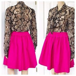 NWOT Kate spade pink a line mini skirt S